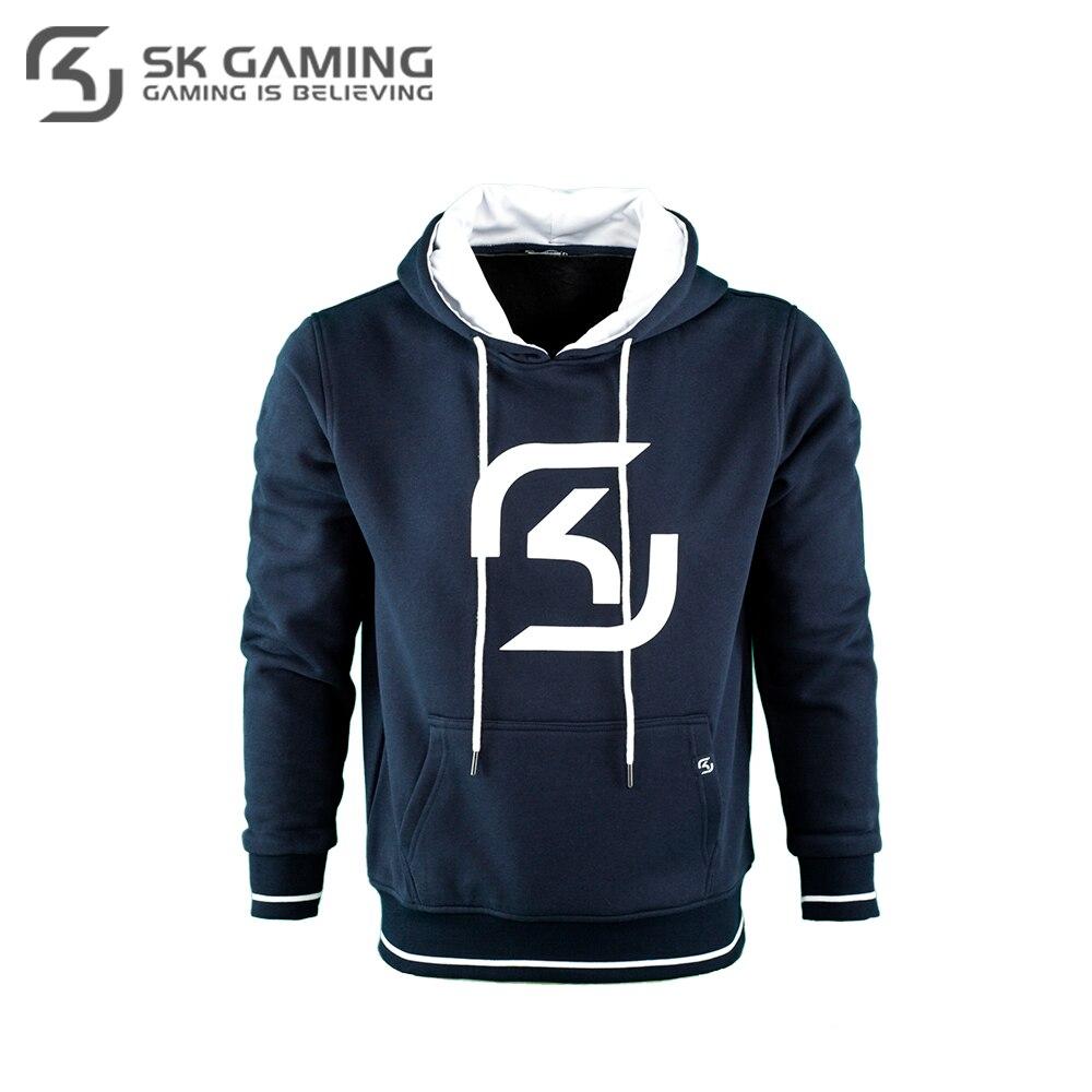 Hoodies & Sweatshirts SK Gaming FSKHOODIE17BL0000 Hoodie mens sweater men hip-hop Cotton League of legends CS:GO esports