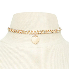 Fashion Alloy Graceful Heart Women Necklace Wedding Party Gifts Seaside Beautiful Pendant Clavicular Short chain graceful alloy faux feather necklace for women