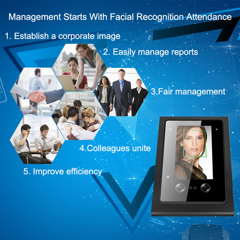Eseye Biometric Time Attendance System Face Access Control TCP IP USB Time Clock Employee Office Electronic