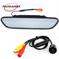 Mini Video Parking System Car CCD Car Mirror Monitor LCD Rear View Camera 5 inch TFT