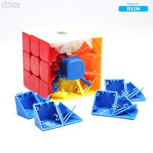 Image 2 - Магнитный куб Moyu RS3 RS3M 3x3 магический скоростной куб 3x3 Magico 3x3 головоломка Mf 3RS V3 MF3RS обычные кубики для детей