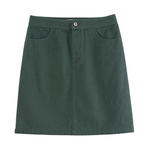 Image 5 - INMAN Spring High Waist Retro Artistic Style Korean Student A Lined Chick Short Skirt