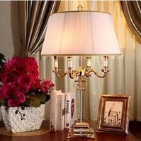 Мода в европейском стиле настольная лампа K9 Кристалл Тень Золотой Цвет Обеденная Спальня свет