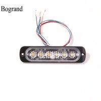 مصباح إشارة طوارئ Bogrand مصباح LED لمخاطرة تحذير للسيارة منبه للوميض المضيء 6 وات-في مصباح التنبيه من الأمن والحماية على