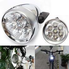 Weimostar impermeable 7 LED carcasa de Metal Luz de cabeza de bicicleta Retro Vintage MTB faro delantero de bicicleta luz delantera de ciclismo Accesorios