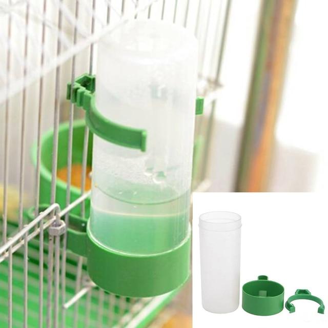 60ml/140ml Practical Aviary Budgie Cockatiel Birds Feeding Equipment Parrot Bird Drinker Feeder Watering Plastic with Clip