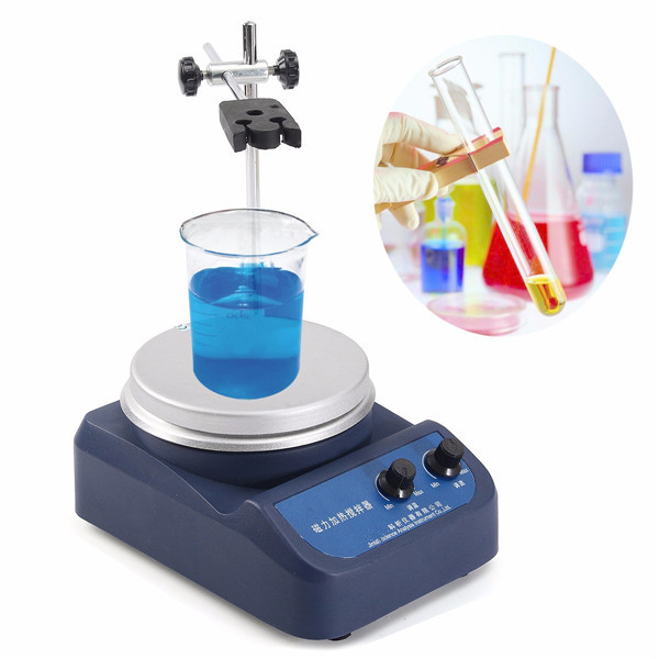 220V 200W Magnetic Stirrer Mixer Machine with Heating Plate Laboratory 200w 50hz magnetic stirrer with hotplate digital mixer heating plate control 110v 220v