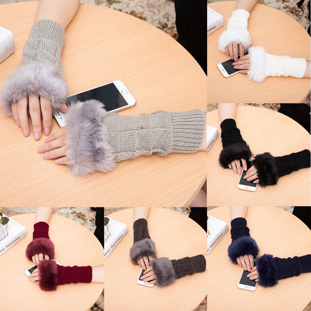 2019 New Fashion Women Girls Ladies Soft Arm Warmer Long Fingerless Gloves 7 Colors