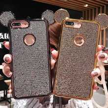 KISSCASE Cute Luxury Rabbit Phone Case For iPhone X XR XS MAX 8 7 6 6s Plus Fashion Case For iPhone 5 5s SE Fundas Coque Covers цена и фото