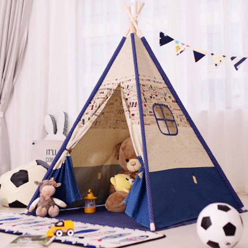 Enfants tentes Portable pliant maison de jeu à l'intérieur indien tentes enfants en plein air bébé château maternelle Triangle enfants cadeau
