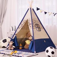 Kinder Zelte Tragbare Klapp Spiel Haus Drinnen Indische Zelte Kinder Im Freien Baby Burg Kindergarten Dreieck Kinder Geschenk-in Spielzelte aus Spielzeug und Hobbys bei