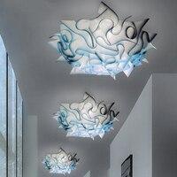 Постмодерн светодиодный спальня потолочные светильники жизни потолочные лампы для комнаты акрил часы с кварцевым механизмом Лофт luminaria дл