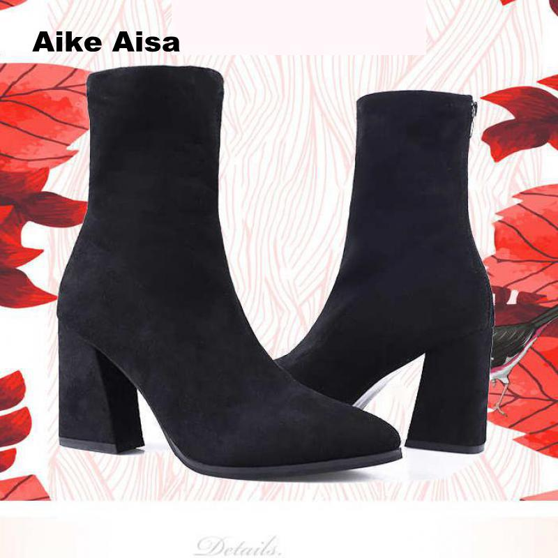 Plus Size 33-41  Tangnest Sexy Women Ankle Sock Boots  New Short Boot Party High Heels Casual Platform Shoes Woman  2019 B66Plus Size 33-41  Tangnest Sexy Women Ankle Sock Boots  New Short Boot Party High Heels Casual Platform Shoes Woman  2019 B66