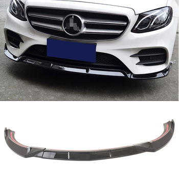 E Class W213 2018 2019 Front Bumper Lip Cover Trims For Mercedes Benz Sport Version Car Accessories ABS Glossy Black 3PCS