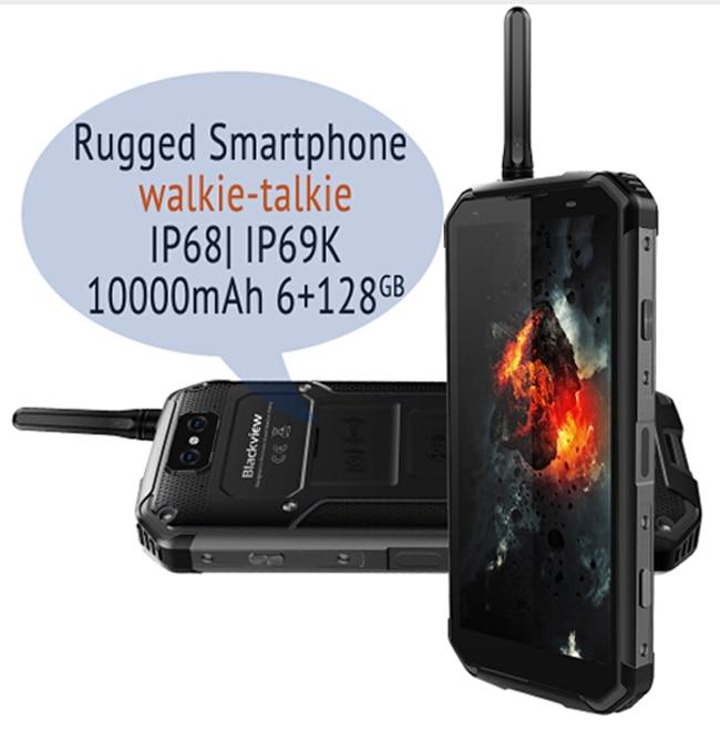 "Blackview Bv9500 Pro Waterproof Walkie Talkie Smartphone 6gb Ram 128gb Rom Octa Core 5.7"" Fhd 18:9 10000mah Battery Mobile Phone"