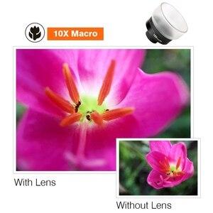 Image 5 - PHOLES 4 In 1 Corredo Dellobiettivo di Macchina Fotografica Del Telefono Cellulare Grandangolare Teleobiettivo Macro Lenti Fisheye Per Il Iphone Xs Max X 8 Huawei P20 Pro