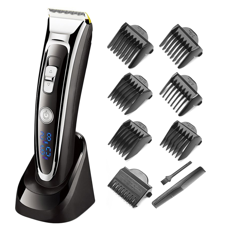 Image 2 - Surker Digital LED Display Hair Trimmer Rechargeable Electric Hair Clipper Men's Cordless Washable Haircut Adjustable Ceramic-in Hair Trimmers from Home Appliances
