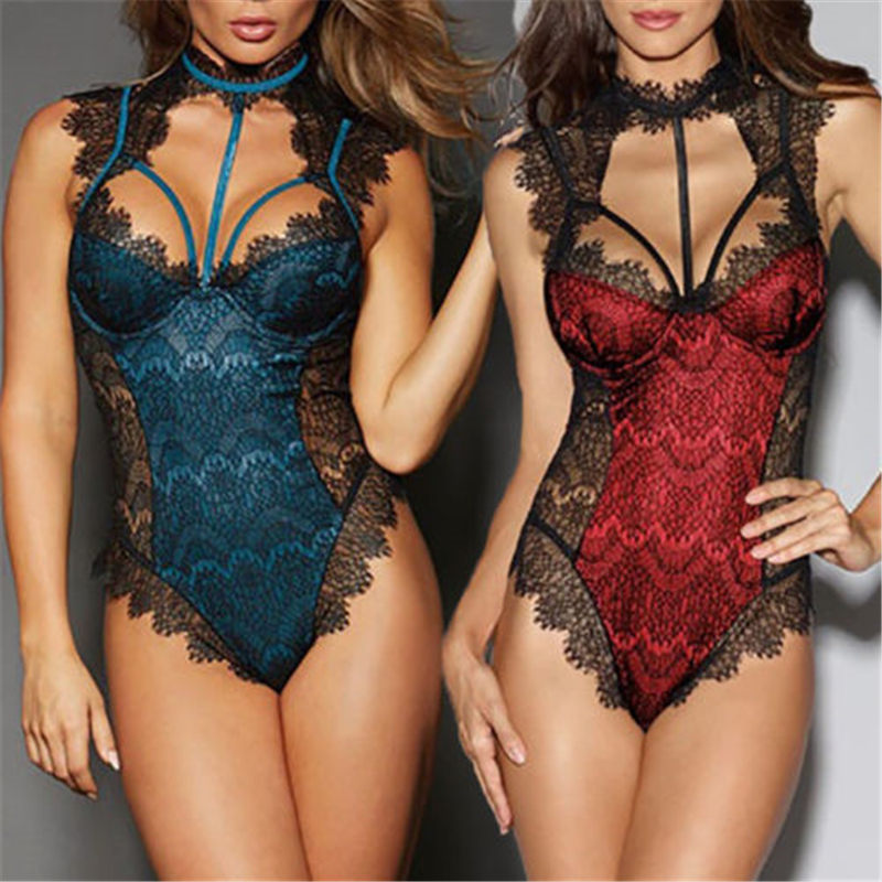 Meihuida Casual Women Sexy Lace Bodysuits High Quality Comfort Breathable Female Girl Babydoll G String Thong Nightwear S-xl Preventing Hairs From Graying And Helpful To Retain Complexion Bodysuits