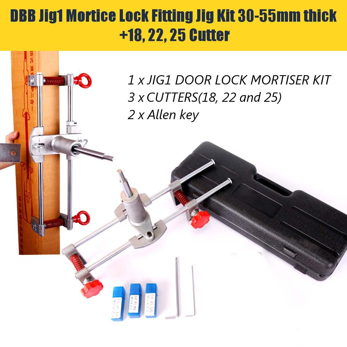 18*22*25 serrure de porte Mortice montage gabarit Mortice Kit avec clé outil d'amélioration de la maison en bois porte perforateur serrurier fournitures