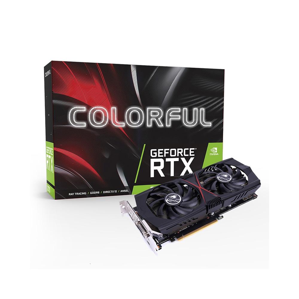 Carte graphique colorée GeForce RTX 2070 GDDR6 8G TU106 12nm DirectX 12.1 GeForce RTX 2070 carte vidéo pour PC de jeu PCI-E