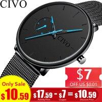 Relogio Masculino CIVO Спортивные Повседневные часы мужские s водостойкие аналоговые наручные часы Мужские кварцевые часы для мужчин подарок часы