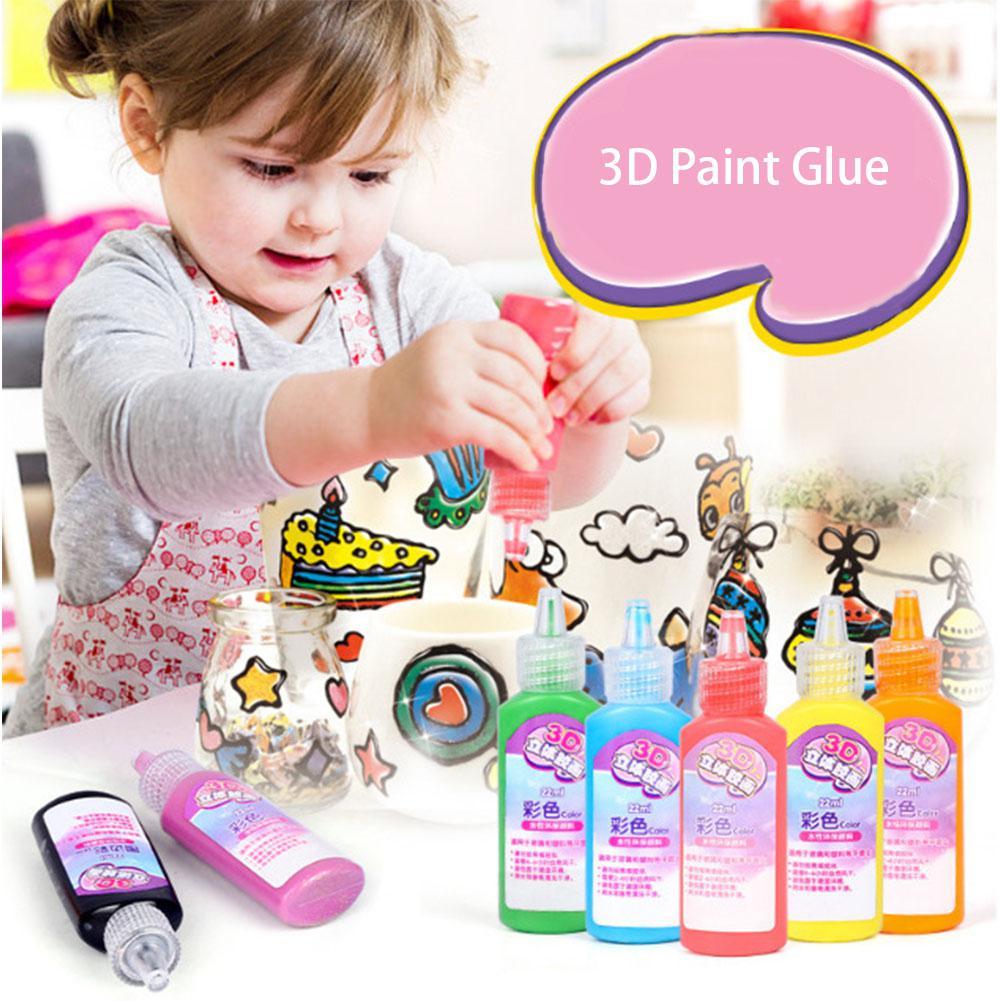Children DIY 3D Paint Glue Glass Window Decoration Colorful Art Paint DIY Toy For Kids