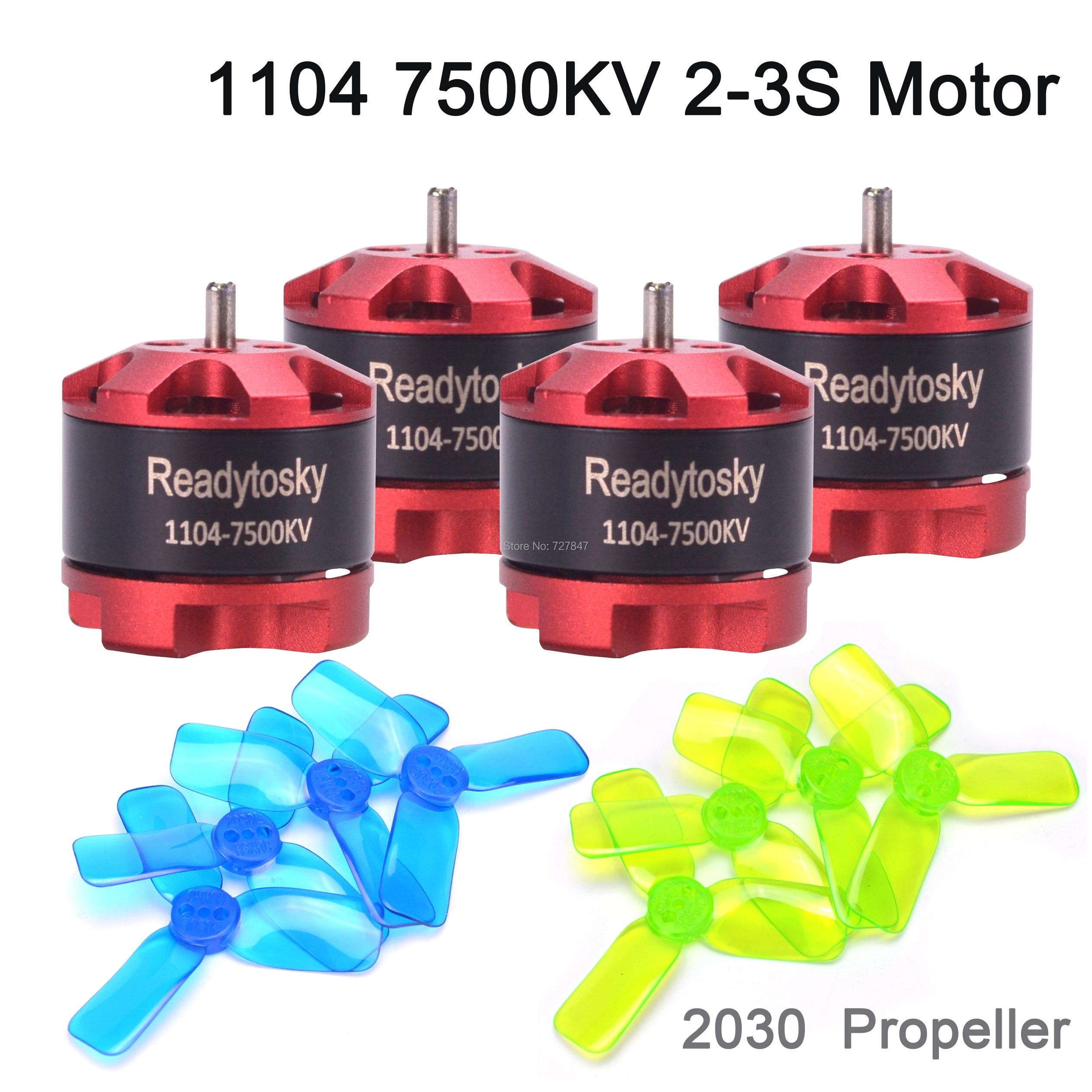 Новый 1104 7500kv 2-3s миниатюрный бесщёточный электродвигатель 2030 пропеллер для RC 80 90 100 мм 120 мм ELF 88 мм 88 мини Мультикоптер Дрон