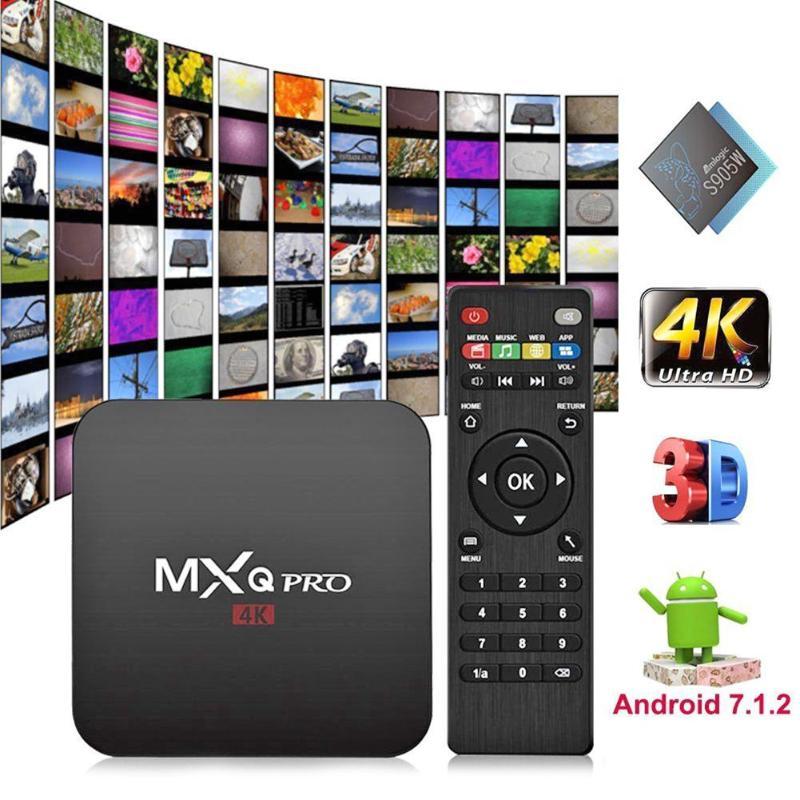 MXQ PRO Android 7.1 Caixa De TV Quad Core 2 + 16G HDMI Smart TV Box 4 K x 2 K WI-FI Set-top Box TV set up Caixa Media Player