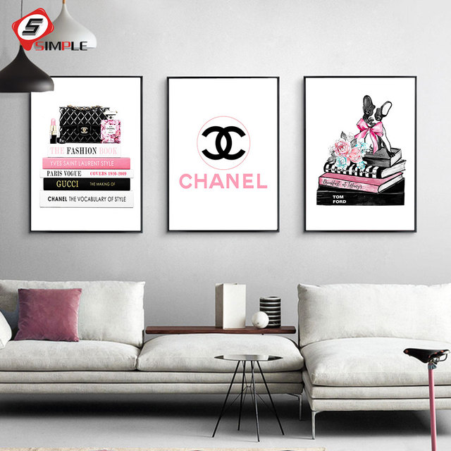fashion women bag posters and prints vogue books wall art canvasfashion women bag posters and prints vogue books wall art canvas painting calligraphy modern dog picture for living room decor