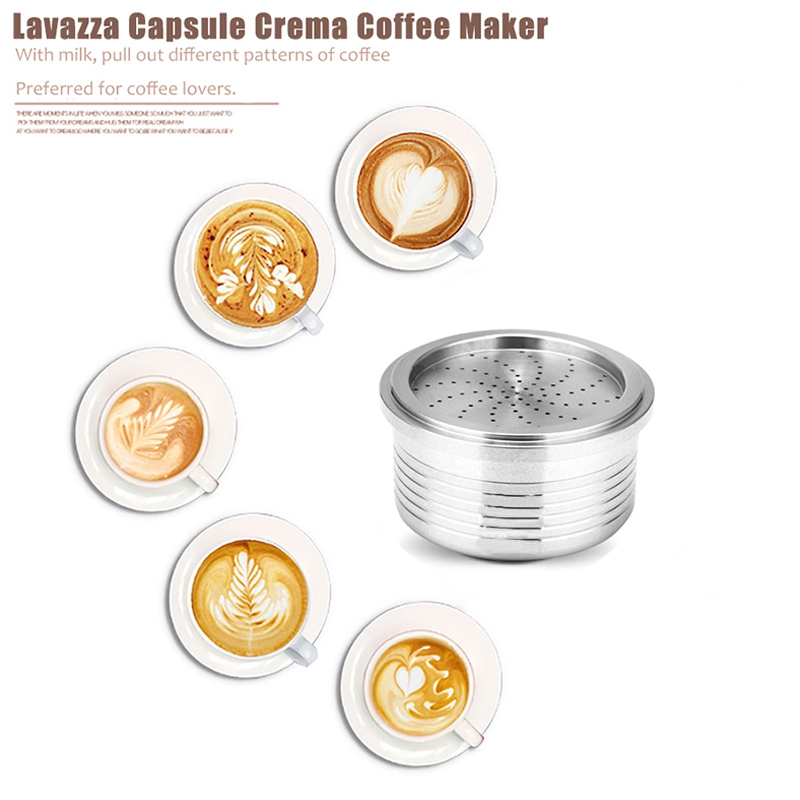 Capsule Stainless Steel Refillable Compatible For Lavazza Coffee Machine Reusable Capsules Coffee Maker AccessoryCapsule Stainless Steel Refillable Compatible For Lavazza Coffee Machine Reusable Capsules Coffee Maker Accessory