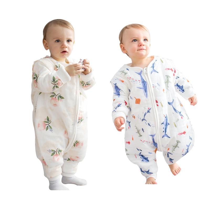 Aus Dem Ausland Importiert Baby Schlafsäcke Für Winter Dicke Nette Overall Für Kinder Catroon Eisenbahnwagen Muster Schlaf Sack Für Kinder Weiche Baumwolle Baby Pyjamas SchöNer Auftritt