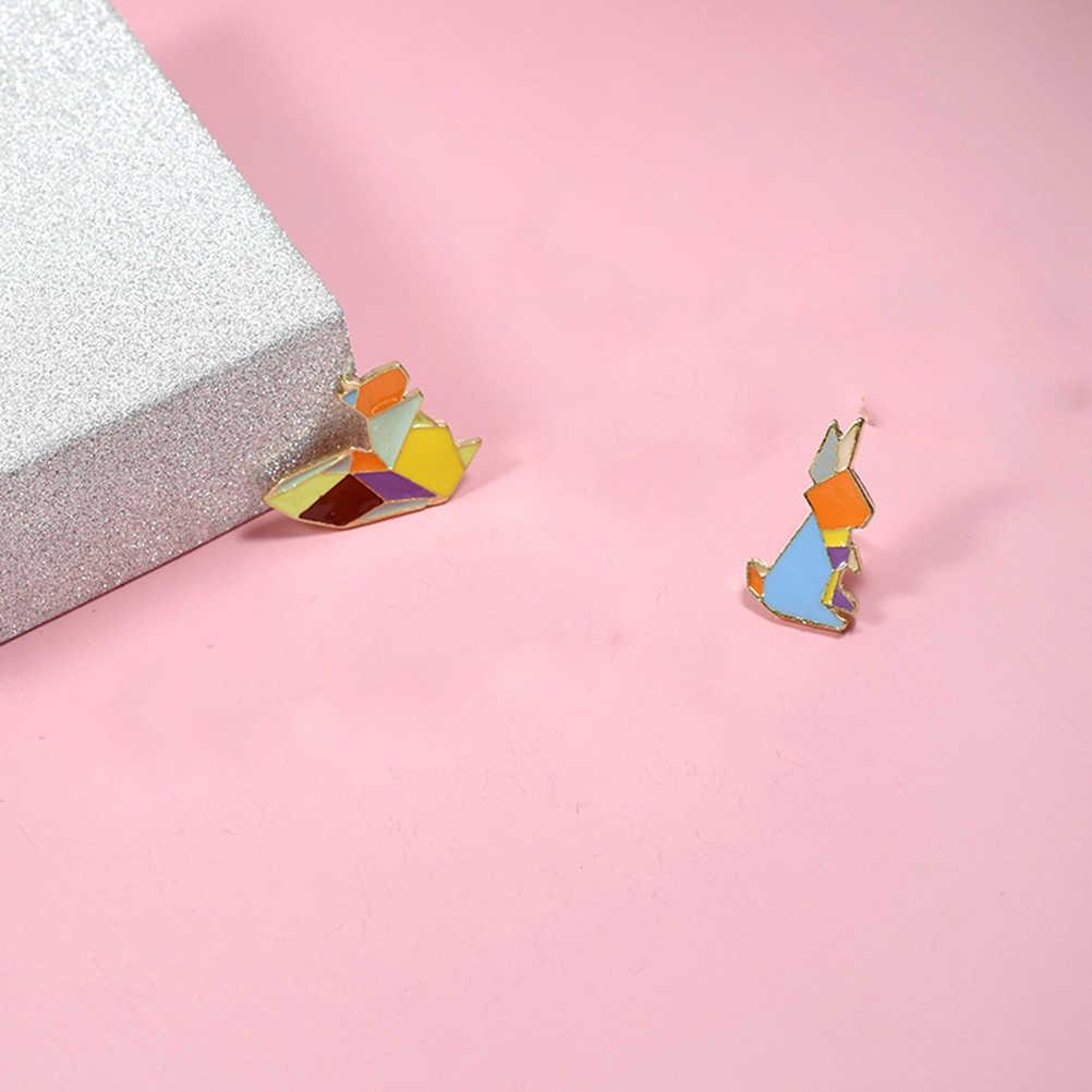 3 pcs Del Fumetto Decorativo Dello Smalto Animale Sveglio Del Coniglio FAI DA TE Del Seno Spilli Distintivi e Simboli Spilla Spilli Gioielli per Giubbotti Cappello Abbigliamento Borse
