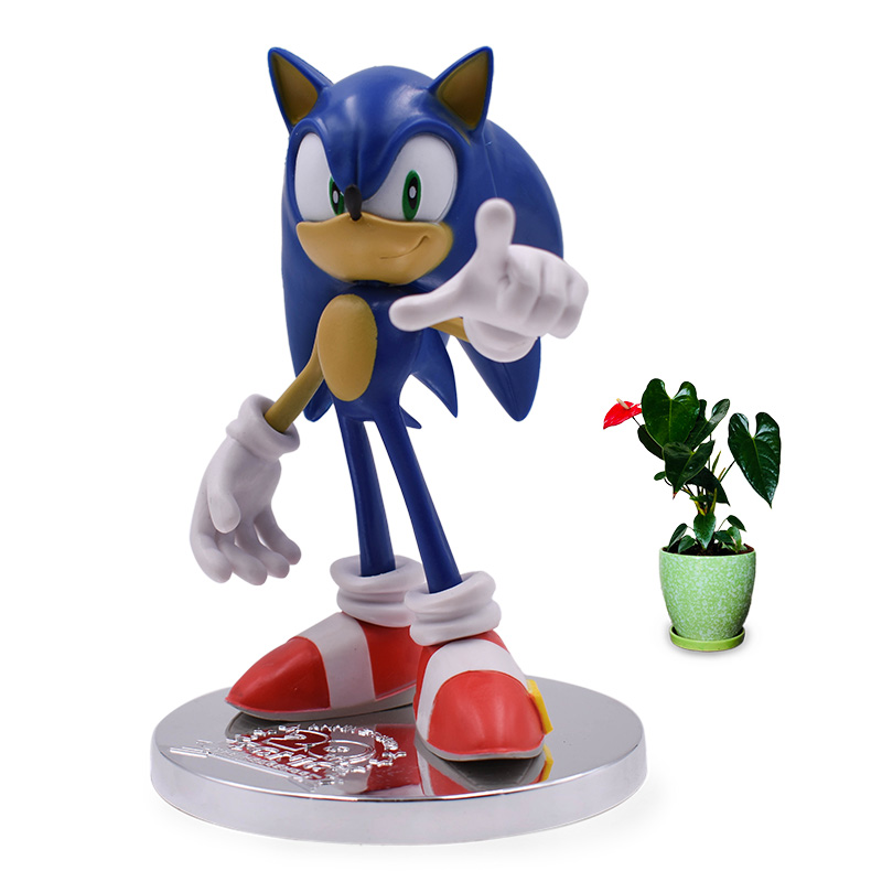 Anime Game Sonic 20th Anniversary PVC Action Figure Collection Model Doll Toy Christmas Gift For Children