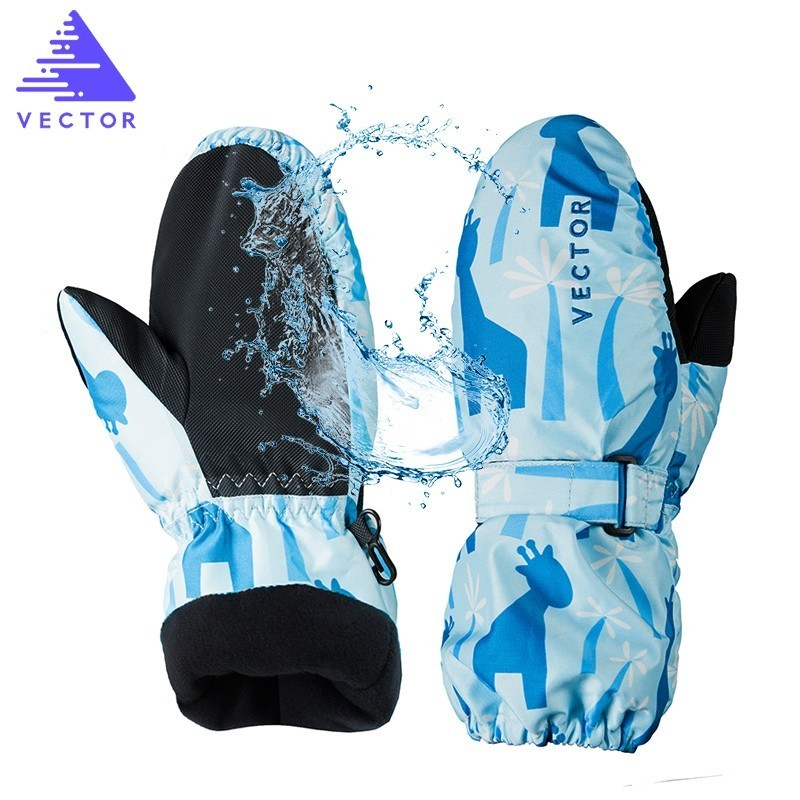 2-In-1 Mittens Kids Ski Gloves Extra Thick Snow Winter Sport Snowboard Synthetic Insulation Warm Waterproof Skiing Boys Girls
