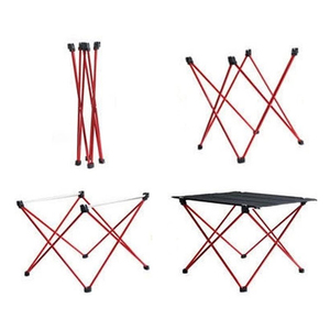 Image 5 - Promotion! Portable pliable Table pliante bureau Camping en plein air en alliage daluminium pique nique 6061 Ultra léger