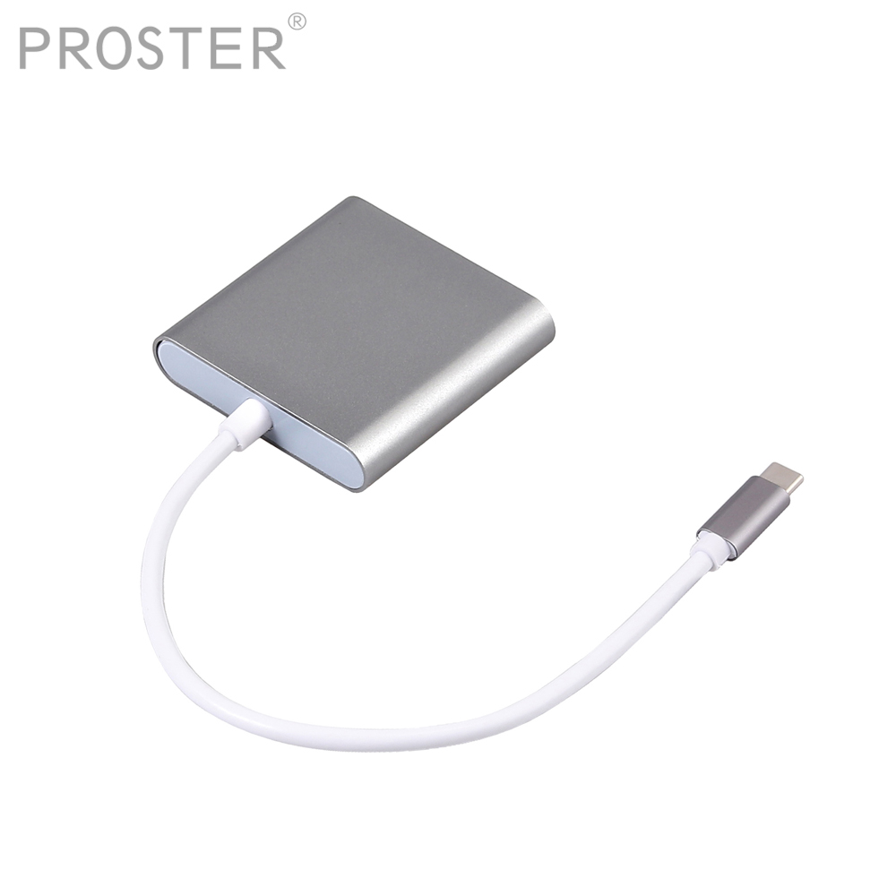 Proster  Multi in 1 Type C to CF SD TF Camera External Multi Card Reader for Macbook Pro Air OTG USB C Devices Super Speed-in Card Readers from Computer & Office