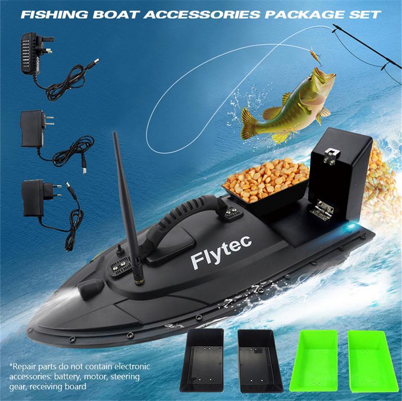 Équipement de pêche accessoire outil 500 mètres Intelligent RC appât bateau jouet Double entrepôt appât paquet de pêche Kit de mise à niveau