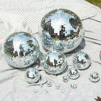 Различные стили Светоотражающие Стекло зеркальный шар 10/15/20 см зеркало вращающееся стекляный шар-светильник для рождественской вечеринки ...