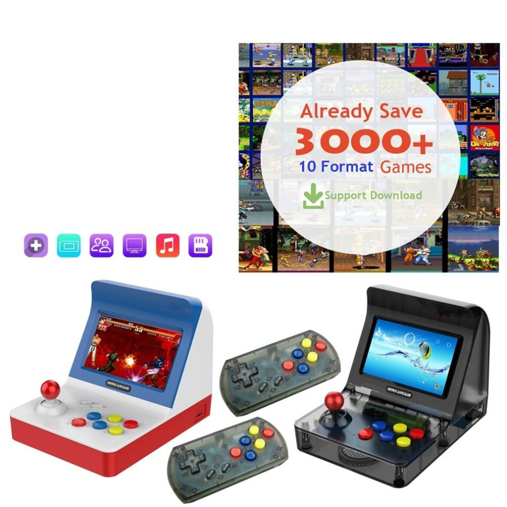 Portable Retro Mini Handheld Game Console 4.3 Inch 64bit 3000 Video Games classical Family Game Console Gift RETRO ARCADEPortable Retro Mini Handheld Game Console 4.3 Inch 64bit 3000 Video Games classical Family Game Console Gift RETRO ARCADE