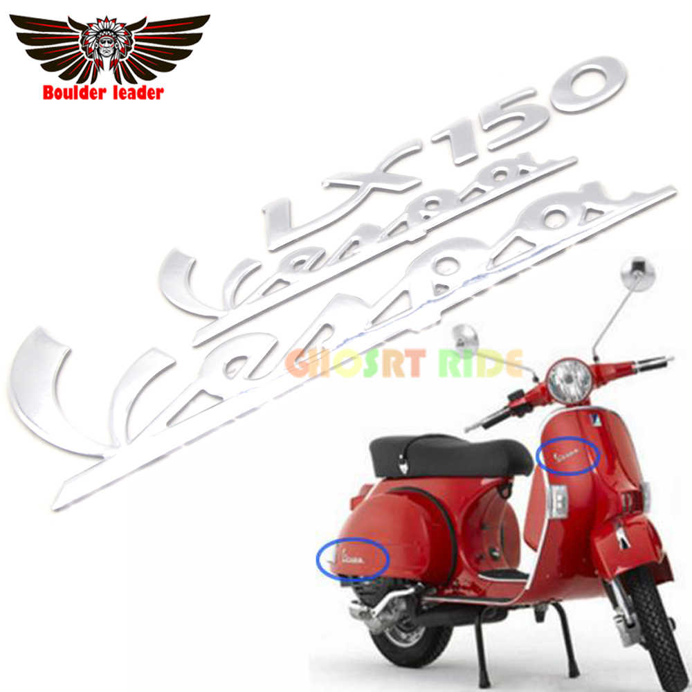 Sepeda Motor 3D Emblem Decal Stiker untuk Piaggio Vespa