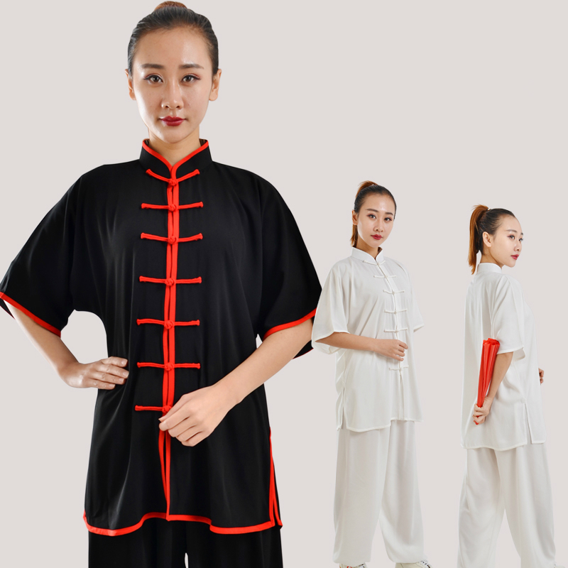 Tai Chi Suit Short Sleeve Summer Martial Art Uniform Wu Shu Clothes 8 Clolors