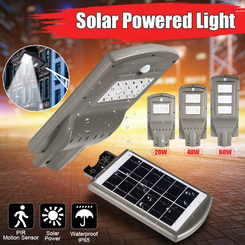 Becornce IP65 étanche 20 W/40 W/60 W LED lampe solaire mur rue lumière jardin extérieur Super lumineux capteur de mouvement lampe de sécurité