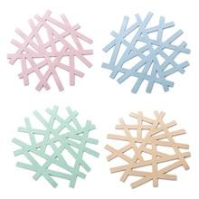 4 шт силиконовые подставки неправильной формы выдалбливают настольные коврики трайвет коврики горшок держатели для кухни дома
