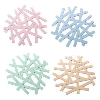 4PCS Trivets With Creative Bird Nest Shape And Hollow Out Design For Dining And Kitchen Table