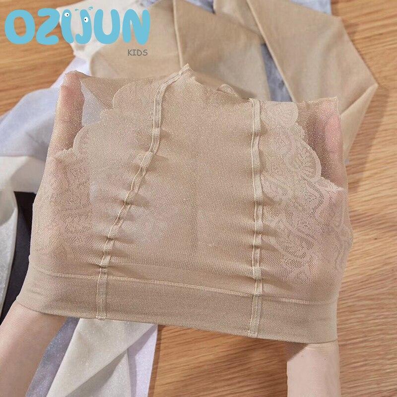 Ozijun, новые летние детские чулки для девочек, прозрачные Шелковые Балетные колготки, блестящие шелковые блестящие колготки