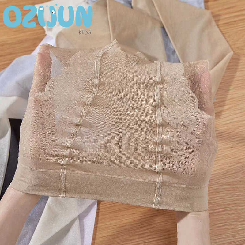 Ozijun nowe letnie dzieci dziewczyny pończochy przezroczysty jedwab balet przezroczyste rajstopy musujące rdzeń przędza jedwabna brokat rajstopy