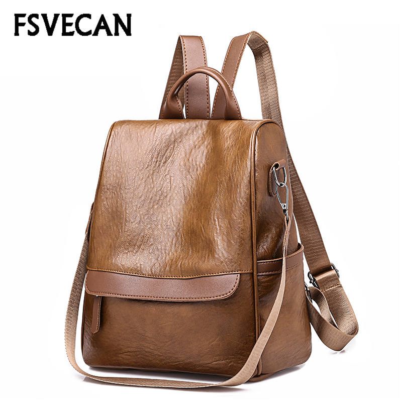 New Arrival 2018 High Quality Women Backpack Fashion Leather Teenage Backpack School Bag For Girls College Waterproof Anti-theft цена