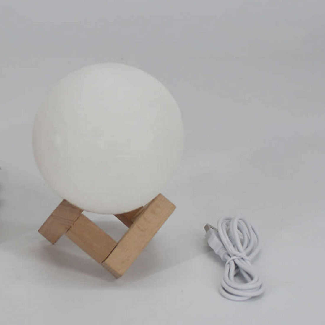 1 шт. 8 см-20 см перезаряжаемая 3D лампа с принтом Луны 2 цвета Изменение сенсорный выключатель спальня книжный шкаф ночник домашний декор креативный подарок