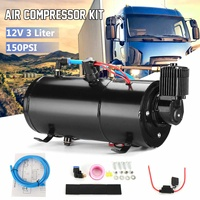 12V 3L Air Compressor Tank 150 PSI Train Horns Air Hose Protector Switch Vehicle For Truck Train
