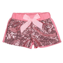 Pudcoco Kids Girls Shorts Bow Sparkle Party Sequin Bottoms Summer Children Clothes Pink Gold